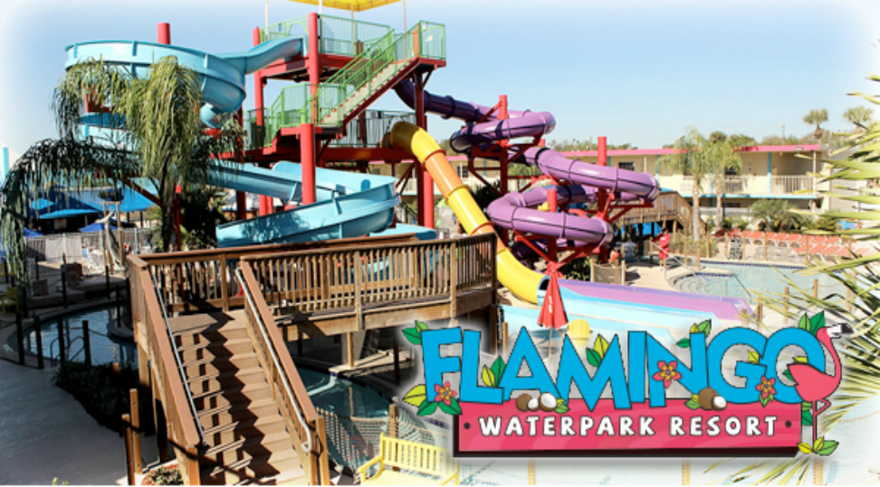 Flamingo Waterpark Resort, florida hotels, water parks, hotel water parks, lazy river, coco key resort, orlando hotels, cheap florida hotels